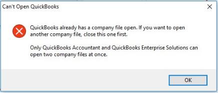 QuickBooks wont open error