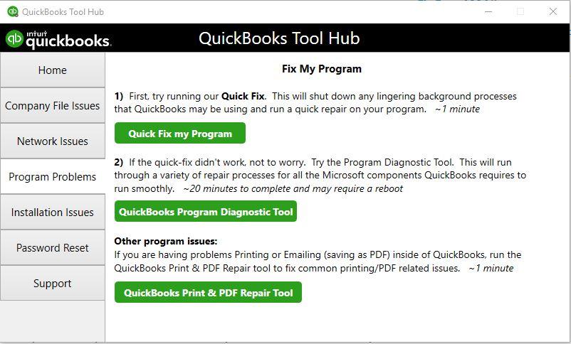 Tool Hub Program Problems