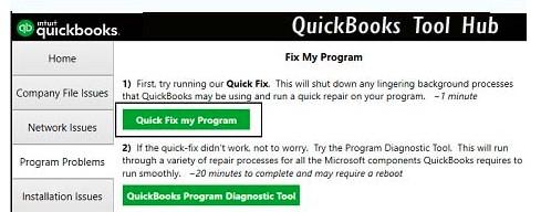 QuickBooks Tool Hub Fix My Program