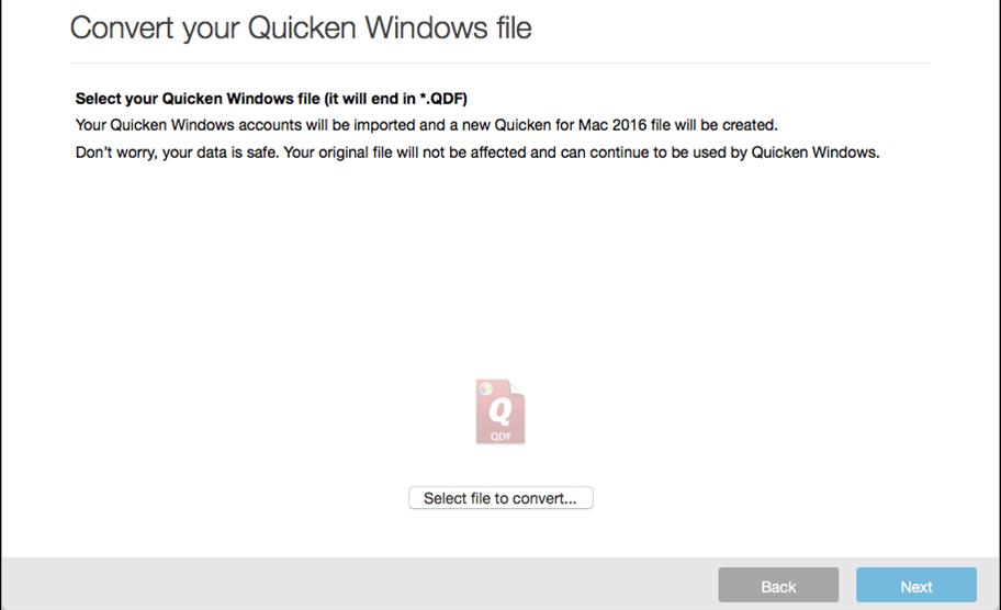 Transferring data from Quicken from Windows