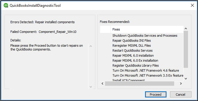 System Specifications For QuickBooks Diagnostic Tool Install