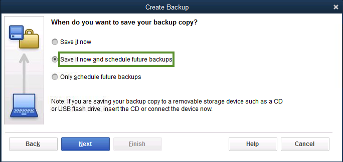QuickBooks Desktop backup key- error 179