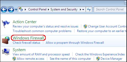 Checking the Firewall Setup