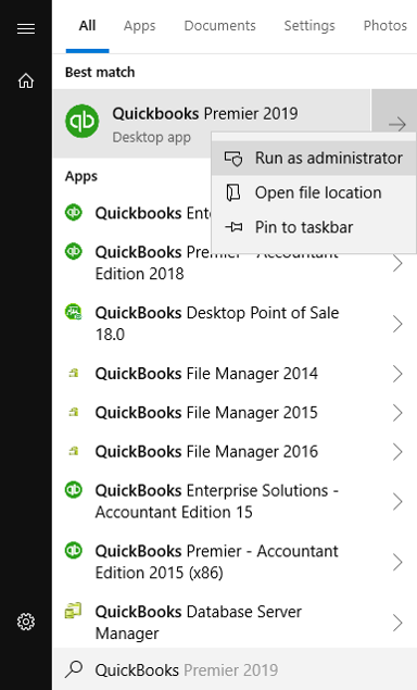Log in Quickbooks as an Administrator