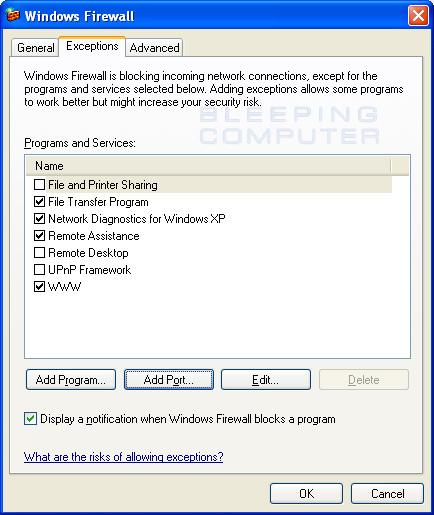 Setting Up Firewall Configuration