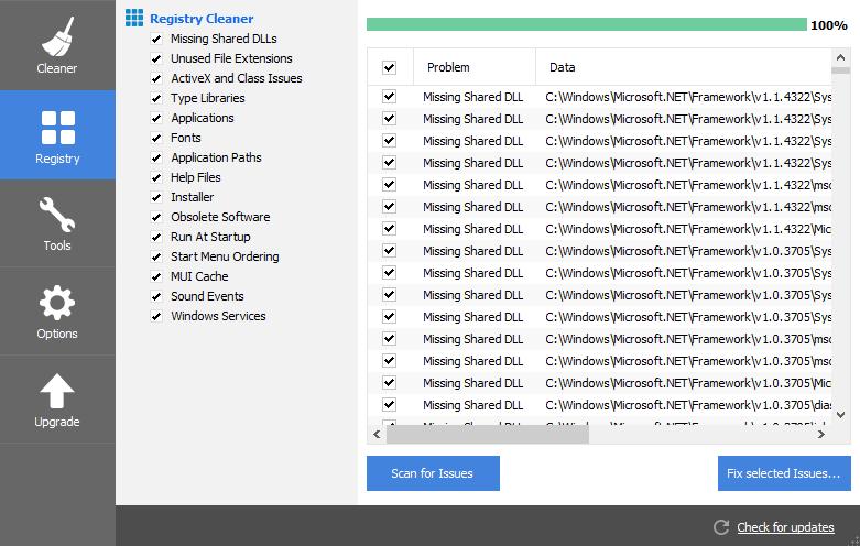 Repair your system registry