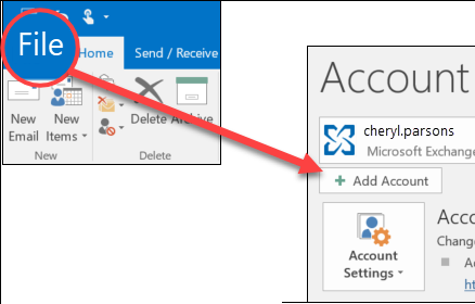 Adding Outlook in Mail Account