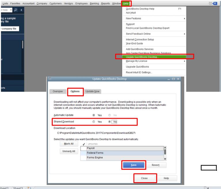 Updating the Quickbooks Desktop Software