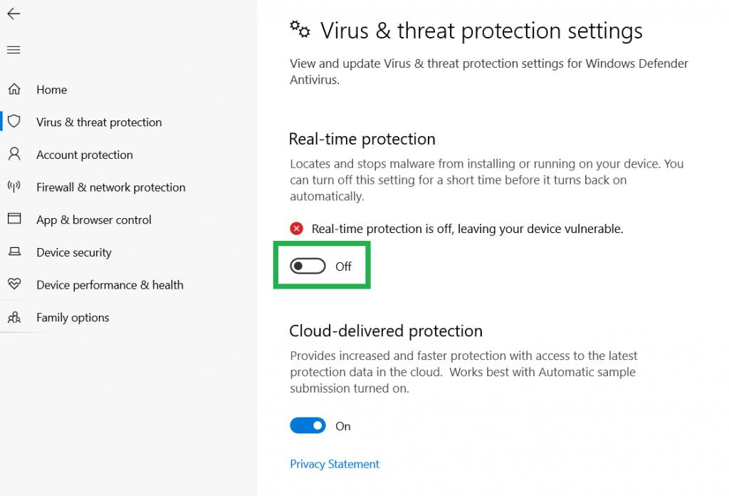 turn off antivirus to resolve quickbooks error 6129