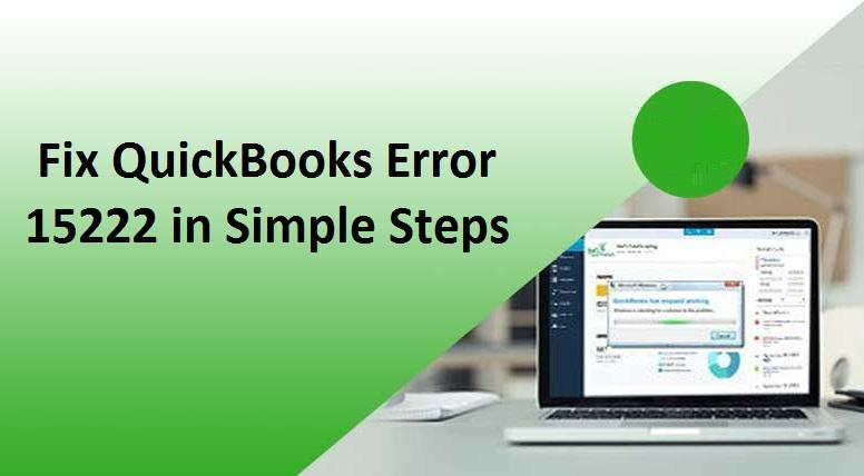 Quickbooks Error Code 15222