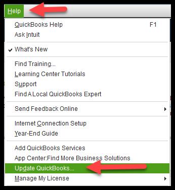Get update of QuickBooks