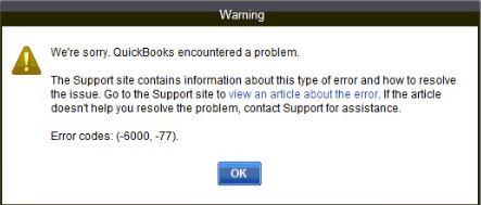 QuickBooks Error 600077