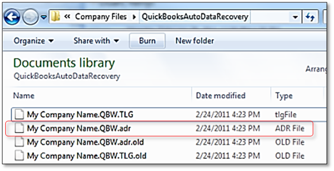 locate qbw file